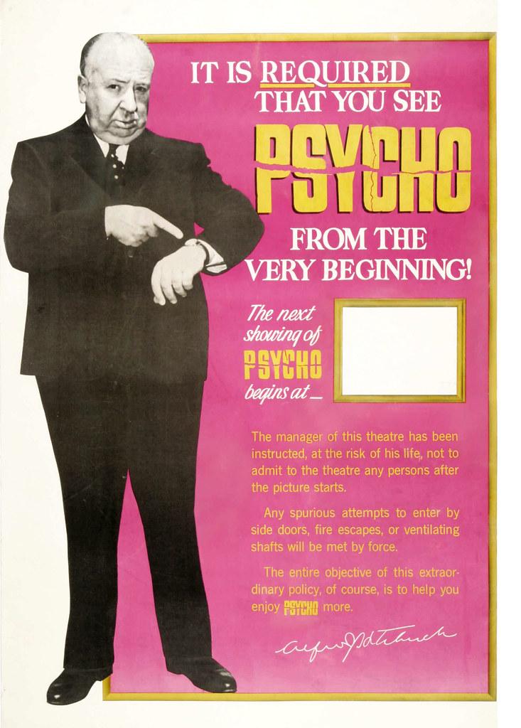 Hichcock Psycho poster