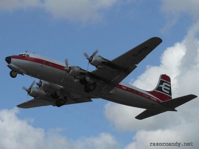 4 P1080557 British Eagle Douglas DC-6 {G-APSA} _ City Airport - 2008 (5th July)