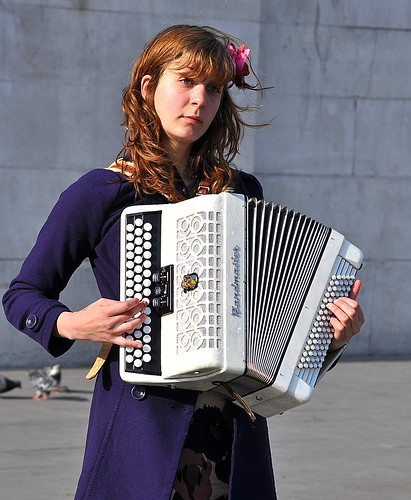 Sad Accordian Player