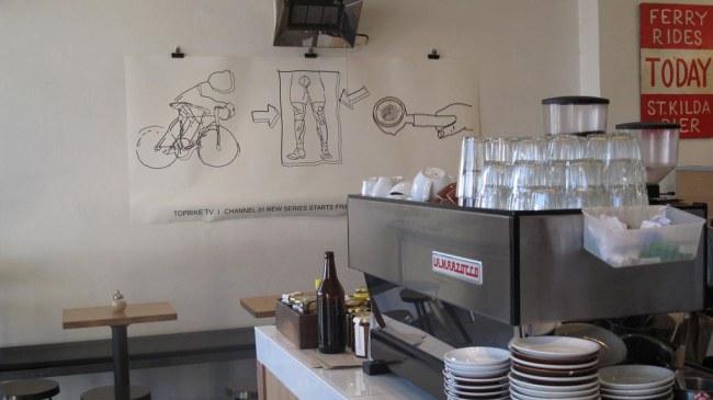 Melbourne cyclist café