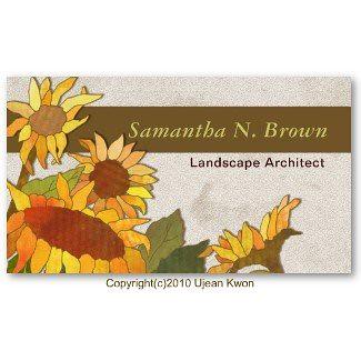Modern Sunflowers: Custom Business Cards