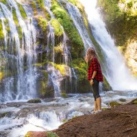 Two waterfalls of Gifford Pinchot National Forest