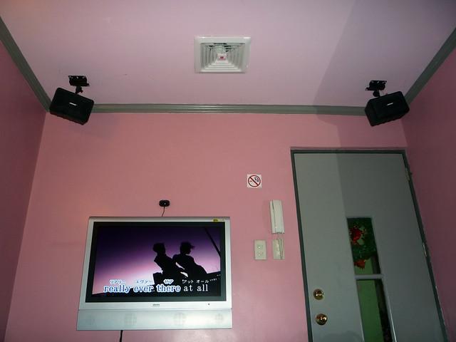 TV, Speakers, Door