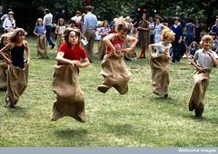Primary school children, sports day