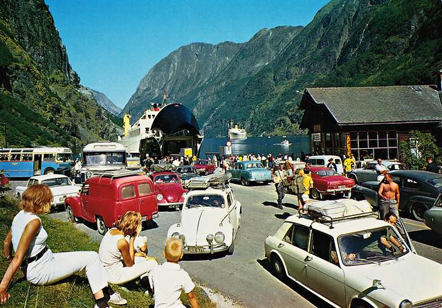 Norge: Gudvangen, Nærøyfjord. Sogn