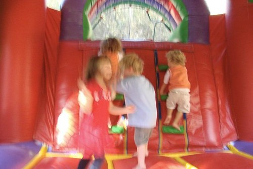 bounce house action