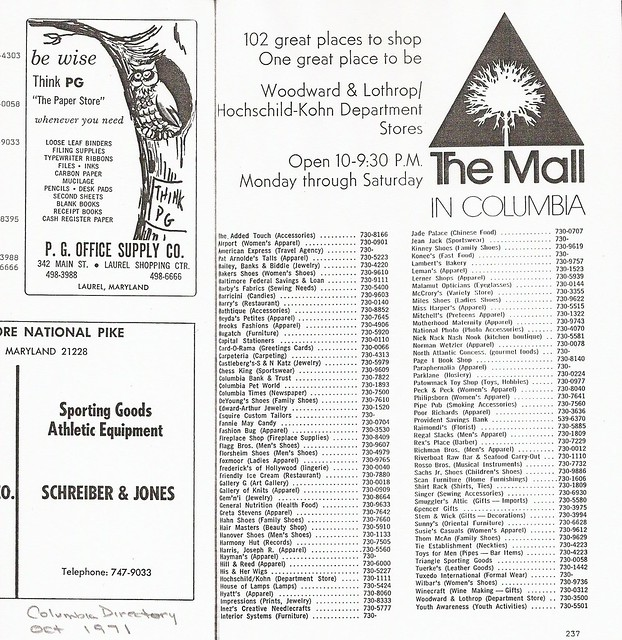 Directory Md Columbia Mall Columbia