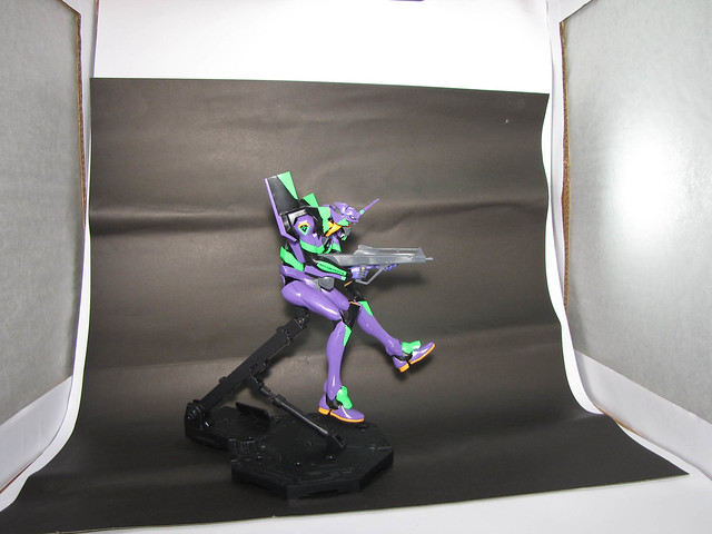 DIY light box with Bandai Model Kit EVA-01 Evangelion 2.0