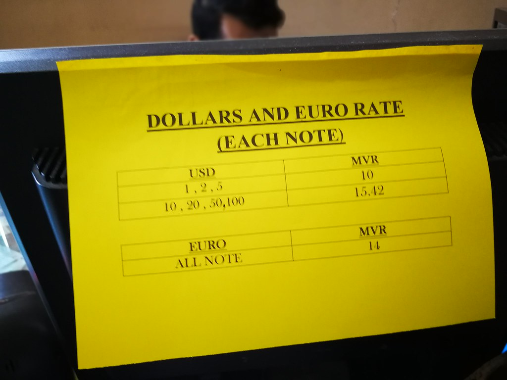 馬爾地夫 貨幣 匯率
