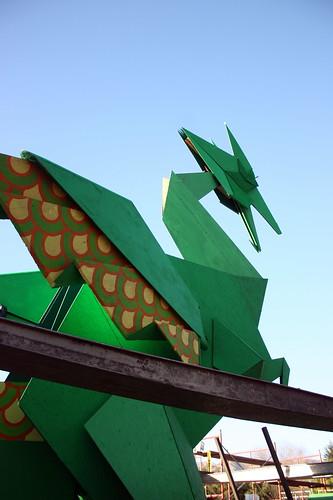 origami dragon, again