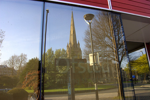 Reflected St Mary Redcliffe