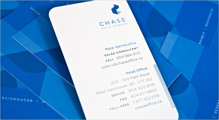 Chase Office Interiors Business Card