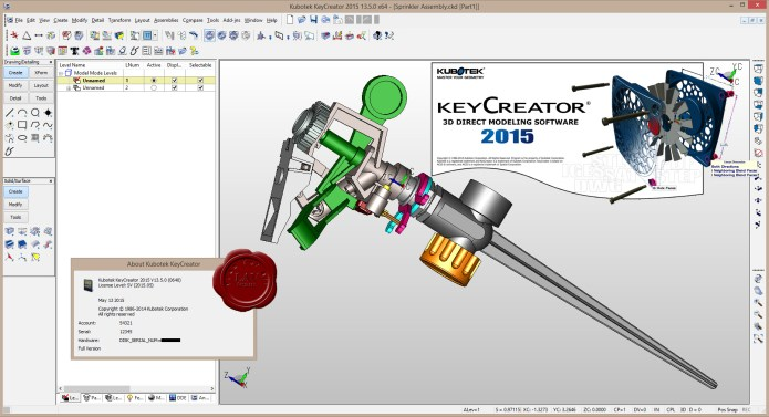 Design with Kubotek KeyCreator Direct CAD 13.5.0 full license