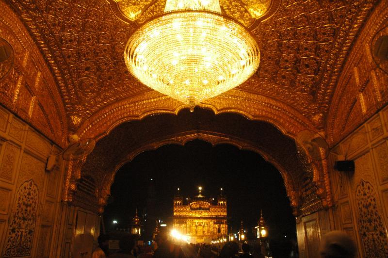 Harmandir Sahib and its entrance
