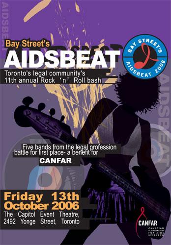 AIDSbeat 2006 poster