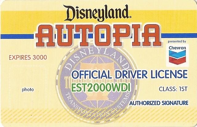 Disneyland Autopia Driver License Joel Flickr