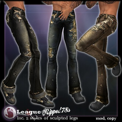 *League* Ripped 78s Mens