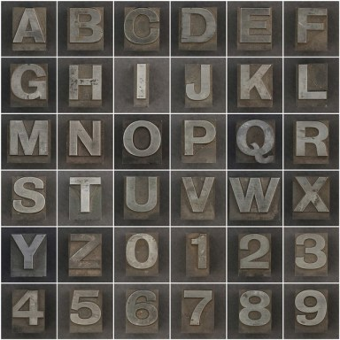 """Caslon metal type letters and numbers"" di Leo Reynolds"