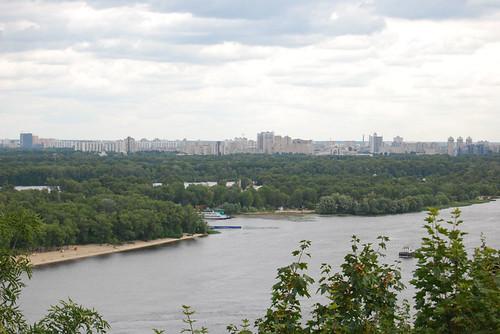 Views of the Dnieper from Khreschatyk Park - CC Roser Martínez