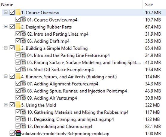 download SOLIDWORKS Mold Tools 3D Printing a Mold course