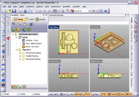 Mecsoft Visualmill Professional v6.0.2.1-Visualcam 1.0 full crack