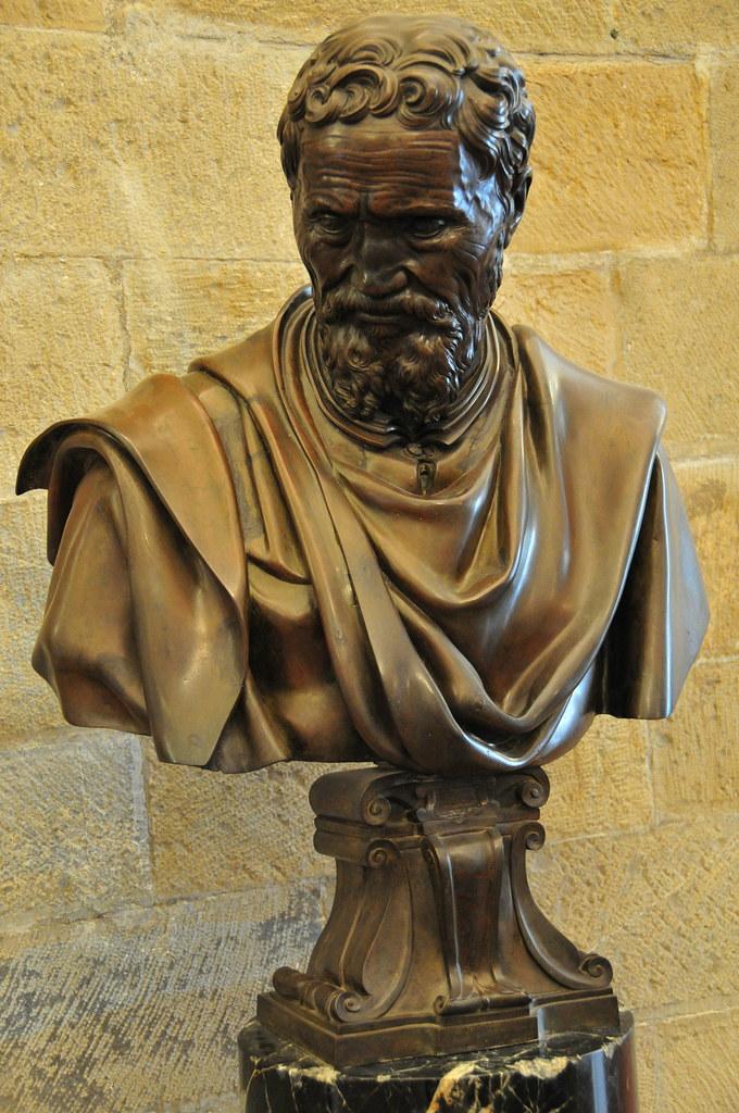 Portrait Bust of Michelangelo