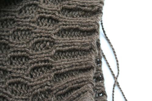 Lacunae Hat in Progress (YIP 2/8/2010)