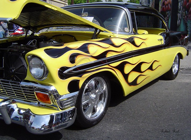 Black And Yellow Flames