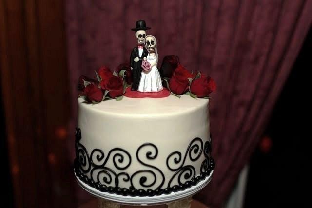 Dia de los Muertos cake topper 2