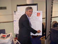 John Redwood campaigning against the Lisbon Treaty