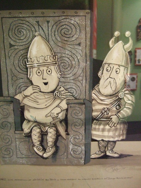 Photo of Noggin and Thor Noggson, early style. Artwork: Peter Firmin