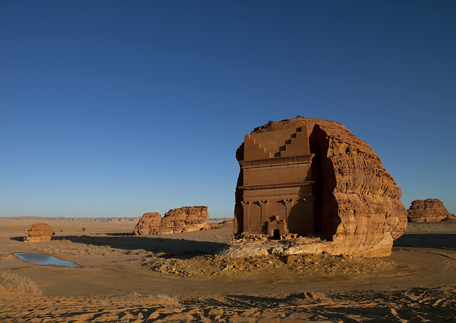 Qasr Farid Tomb in Madain Saleh - Saudi Arabia
