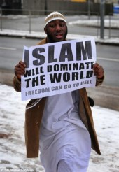 """Islam will dominate the world. Freedom can go to hell"". Many argue Muslims, especially those in Africa, are extremist. Many studies reports Africans are the most religious people on the face of the Earth."