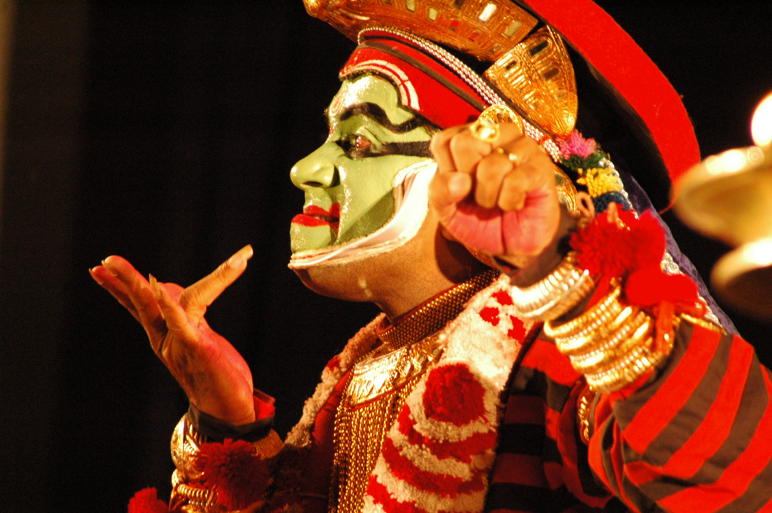 Kathakali, traditional story telling dance form, Kerala, India