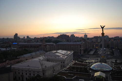 Independence Square at dusk - CC Roser Martínez