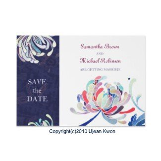 Chrysanthmum: Wedding Save-the-Date Invitations