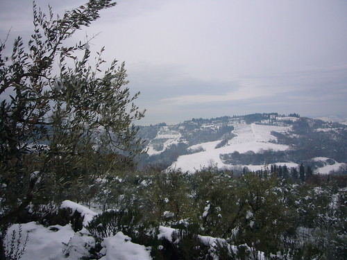 Snow in Tuscany