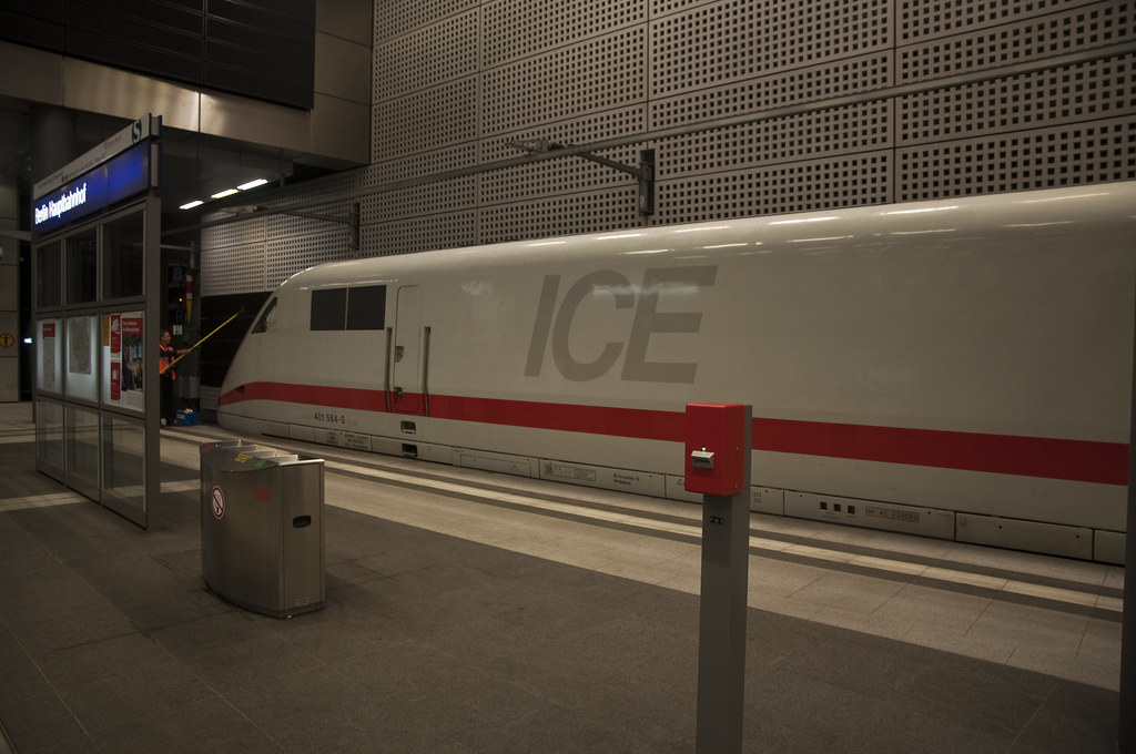 ICE Train at Berlin Hauptbahnhof (Hbf)