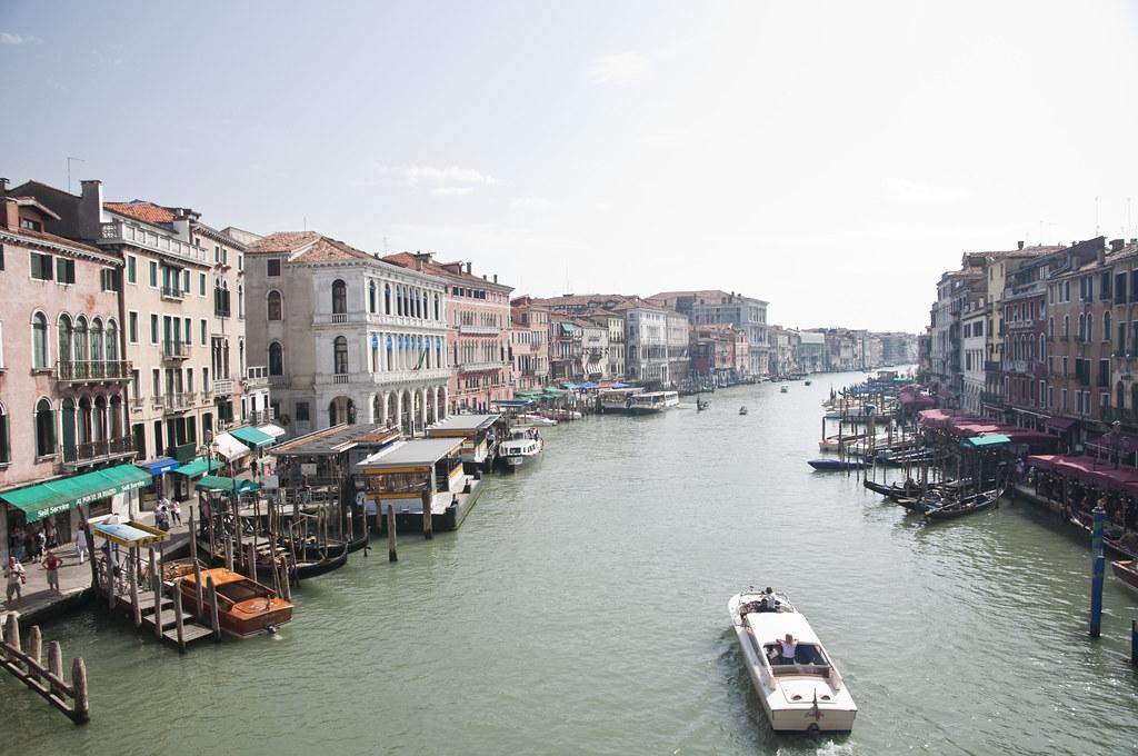View from Puente di Rialto in Colour