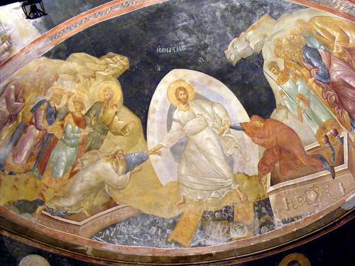 Anástasis, Pareclesion ábside, Iglesia del Salvador en Jora by Hesperetusa