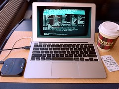 doing some modern-day computing on the train to New York