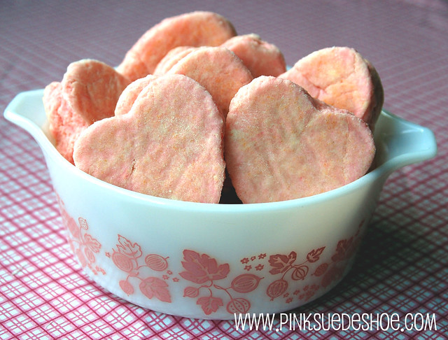 pink biscuits