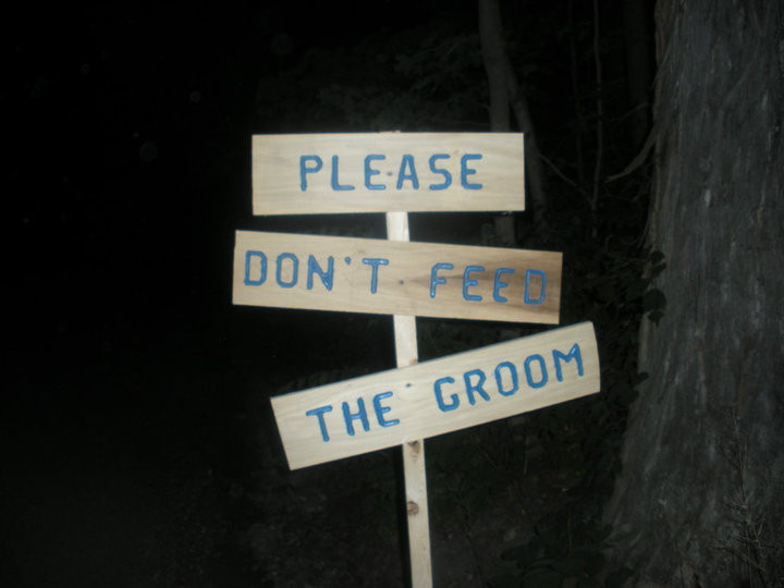 please dont feed the groom