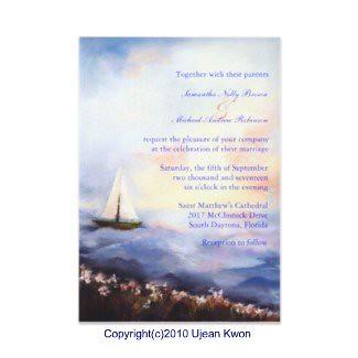 Sailing Together: Wedding Invitation