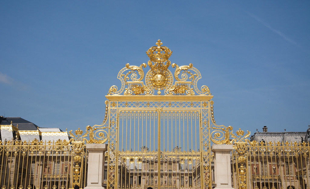 Gilded gate of the Château