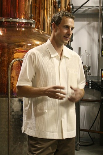 Master distiller Tyler Schramm at the Pemberton Distillery