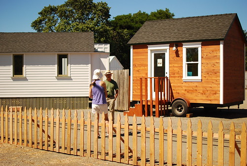 built on wheels, these tiny houses are easily moved and adaptable