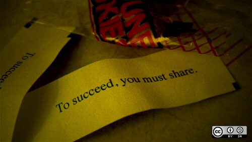 Fortune cookie says: To succeed, you must share.