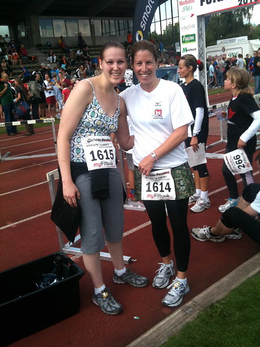 Angel & me at the finish line