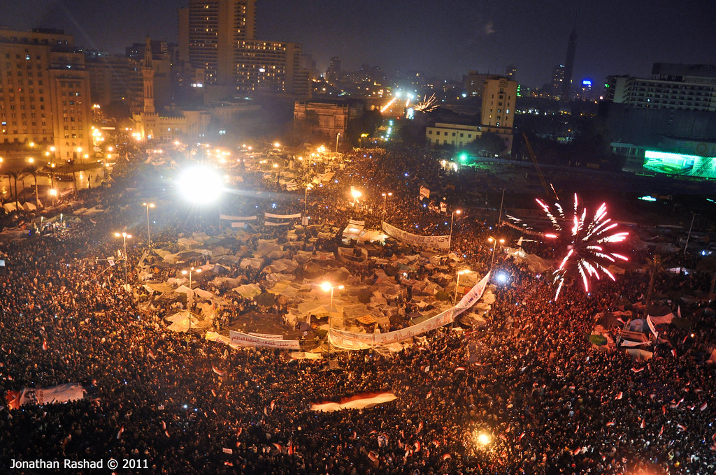 Celebrations in Tahrir Square - February 11, 2011